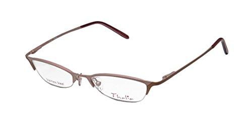 Thalia Patia Womens/Ladies Vision Care Red Carpet Style Designer Half-rim Flexible Hinges Eyeglasses/Spectacles (47-18-135, Light Rose / Brown) (Stella Rose Red Wine compare prices)