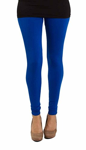 ZpluesX Cotton Lycra Comfortable Leggings for Women (Blue, XXL)  available at amazon for Rs.229