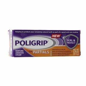 Super PoliGrip Seal and Protect for Partials Denture Cream - 0.75 oz - 1
