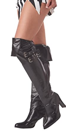 California Costumes Deluxe Boot Covers, Black, One Size Costume Accessory