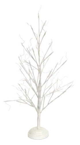 2.5' Pre-Lit White Twig Tree Christmas Decoration - Cool White Led Lights