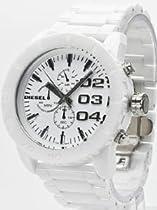 Diesel Chronograph White Ceramic Mens Watch DZ4220