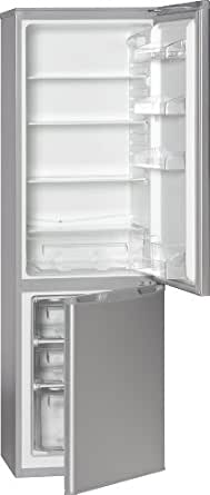 Bomann KG 178.1 silber Kühl-Gefrier-Kombination / A+ / Kühlen: 196 L / Gefrieren: 72 L / silber / 180 cm Höhe