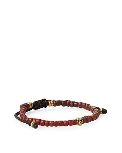 Link UP BR516BR Pull Thread Bracelet with Color and Small Skull