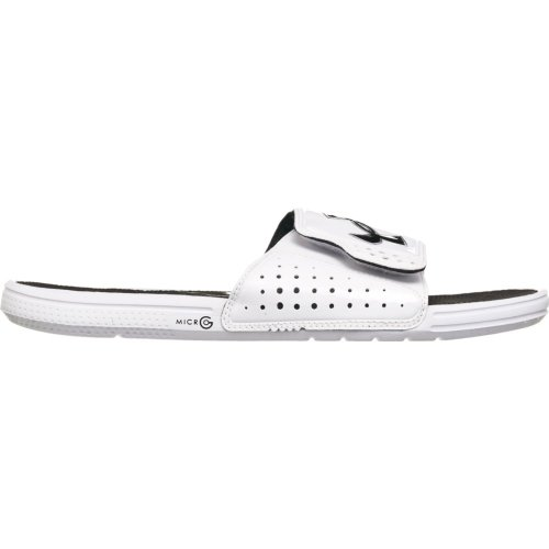 Mens Under Armour Micro G Ev Sandals White/Black/White Size 13 front-979454