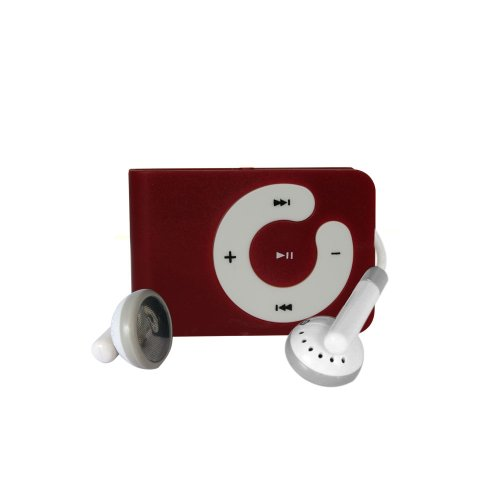 Red Mini Clip Mp3 Player Support 8 GB Micro SD Card