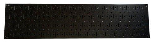 Wall Control Narrow Pegboard Rack 8In X 32In Black Metal Pegboard Runner Tool Board