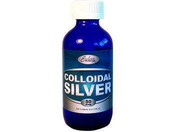 Colloidal Silver 50ppm (in Glass Bottle) (16 oz)