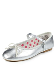 Patent Bow Ballet Pumps