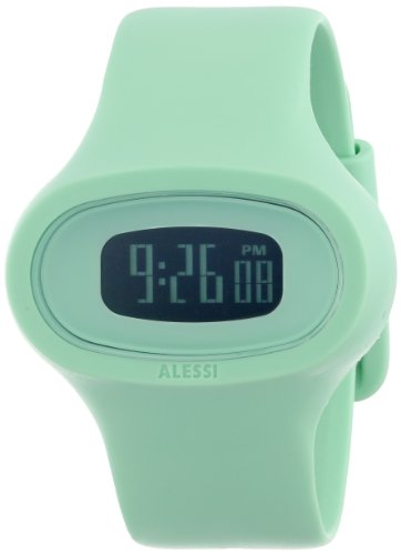 Alessi - AL25001 - Montre Mixte - Quartz Digital - Bracelet Plastique Vert