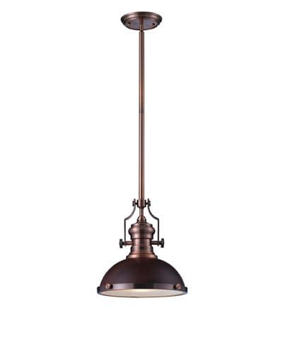 Artistic Lighting Chadwick 1-Light Pendant, Dark Walnut/Antique Copper