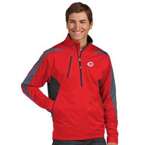 MLB Cincinnati Reds Men's Discover Jacket, Dark Red/Smoke/Steel, XX-Large at Amazon.com