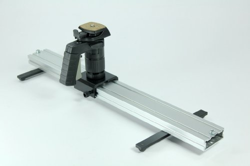 indiSystem DELUXE 2ft Camera linear slider Dolly with legs and Pistol Ball Grip