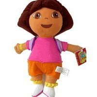 "Dora the Explorer Large 15"" Plush Doll Wearing Mr. Purple Backpack by NC Educational Products"