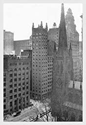 30 x 20 Stretched Canvas Poster One Wall Street and Trinity Church, 1911