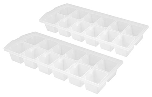 metaltex-22-cm-ice-cube-trays-set-of-2-white