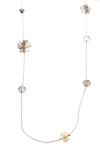"""C.A.K.E. By Ali Khan Necklace, 48"""" Silver-Tone Moon Cluster Glass Bead Long Rope Necklace"""