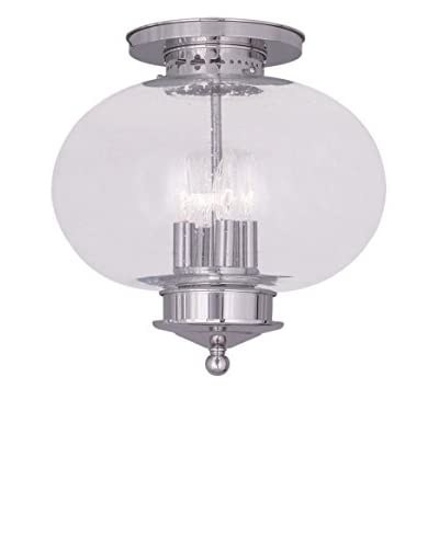 Crestwood Lucia 4-Light Ceiling Mount, Polished Nickel