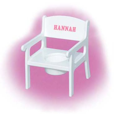 Personalized Potty Chair - Color: White