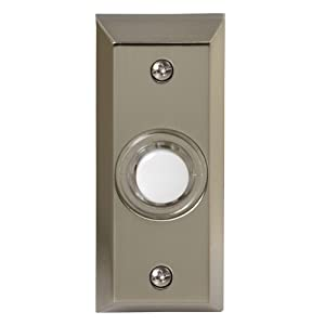 Honeywell RPW204A1005/A Wired Surface Mount Illuminated Push Button Door Chime, Stainless Steel Finish