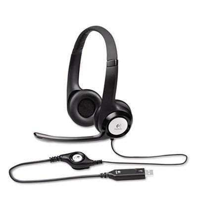 High-Quality, Integrated Drivers. - Logitech, Inc. * H390 Usb Headset W/Noise-Canceling Microphone
