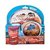 Disney Pixar Cars Movie 3Piece Mealtime Set Drift Version Plate, Bowl & Tumbler