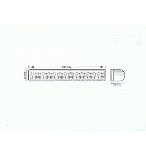 48 LED Barre 8000 lm 10-30 V (Barre DE 48 X LED 3 W 144W)