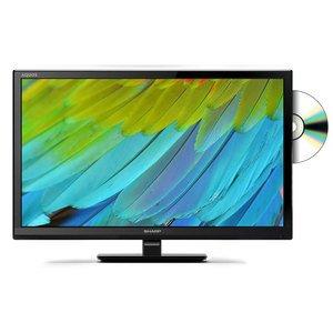 """Téléviseur LCD, LED et Plasma - Sharp LC-24DHF4011E - Téléviseur LED HD 24"""" (61 cm) - 1366 x 768 pixels - TNT et Câble HD - HDTV - USB - 100 Hz - Lecteur DVD"""