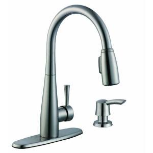 Glacier Bay 900 Series Single Handle Pull Down Sprayer Kitchen Faucet In Stai