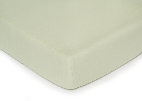 Kids Line Jersey Knit Crib Sheet, Celadon front-1027386