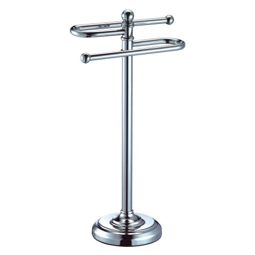 Gatco 1546 Counter Top S Style Towel Holder, Chrome