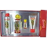 ED HARDY VILLAIN by Christian Audigier Gift Set for WOMEN: EAU DE PARFUM SPRAY 4.2 OZ & BODY SPRAY 6 OZ & SHIMMERING BODY LOTION 3 OZ & EAU DE PARFUM SPRAY .25 OZ MINI