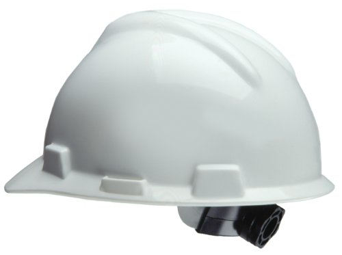 MSA Safety Works 818064 Ratchet Hard Hat, White