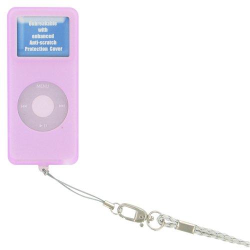 ETUI SILIC ROSE IPOD NANO V2 - Pour iPod Nano 1 Go, 2 Go ou 4Go- Etui metal- Accès aux connexions...