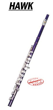 Hawk Color Closed Hole C Flute Purple with Case