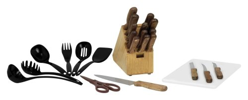 Chicago Cutlery Basics Wood 25-Piece Knife Set with Block
