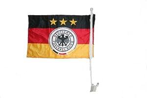 "Germany Deutschland Fifa World CUP Heavy Duty Car Stick Flag 12""x18"" .. Fifa Soccer Football World Cup... New"