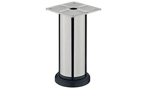 GedoTec-DESIGN-Mbelfu-LENA-verstellbar-Sockelfuss-Verstellfe-aus-Stahl-mit-Hheneinstellung-20-mm-Chrom-matt-Hhe-70-mm-Markenqualitt-fr-Ihren-Wohnbereich