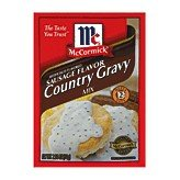 McCormick Sausage Flavor Country Gravy Mix Makes 2 Cups 2.64 OZ (Pack of 12)