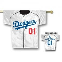 Los Angeles Dodgers MLB Jersey Design 2-Sided 34 x 30 Banner Sports Home Decor Wall... by MLB