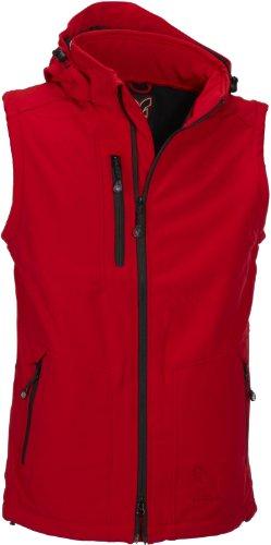 Softshell-Jacke Outdoor-Jacken Herren mit abtrennbaren Ärmeln und Kapuze von Fifty Five - Power red 5XL - und FIVE-TEX Membrane in Outdoor-Bekleidung -