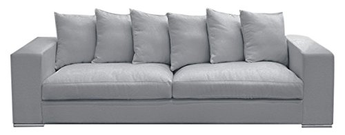 Amaris Elements so004.4 sofá de 4 plazas gris 265 x 106/X 65/45 cm