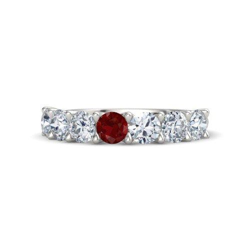 Round Ruby Platinum Ring â€