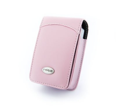 (Fuji Finepix F50fd F480) traditional soft Napa (PINK) leather digital camera Case Cover