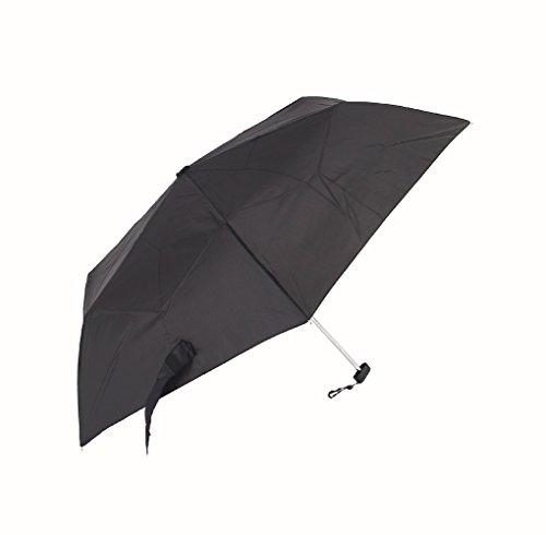 アテイン 軽量楽々ミニ折畳傘 フラットタイプ 黒 5140