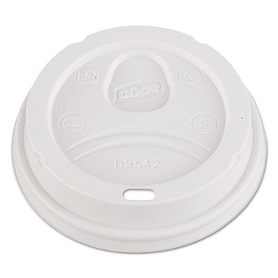 White Plastic Dome Lid for 10-16 oz. Perfect Touch Paper Hot