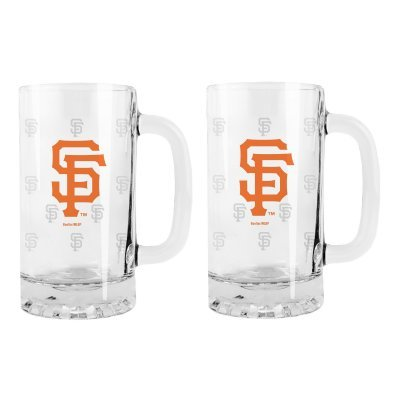 MLB Giants 16oz. Glass SE Tankard Mugs - Set of 2 | San Francisco Giants Beer Mugs (Sf Giants Coffee Mug Set compare prices)