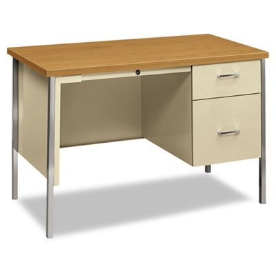 Hon Single Pedestal Desk, 45-1/4 by 24 by 29-1/2-Inch, Harvest/Putty (Tru Table Llc compare prices)