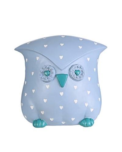 Hucha Owl Azul