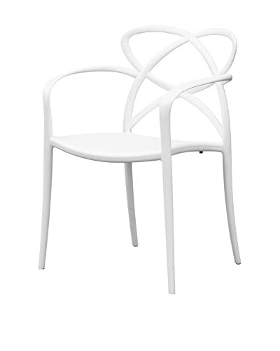 Manhattan Living Script Dining Chair, White